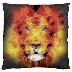 Fractal Lion Large Cushion Case (two Sides)