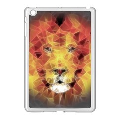Fractal Lion Apple Ipad Mini Case (white) by Nexatart