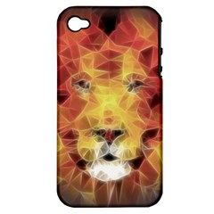 Fractal Lion Apple Iphone 4/4s Hardshell Case (pc+silicone)