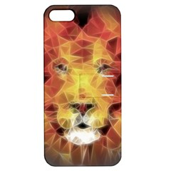 Fractal Lion Apple Iphone 5 Hardshell Case With Stand by Nexatart