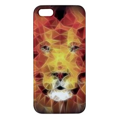 Fractal Lion Apple Iphone 5 Premium Hardshell Case