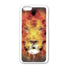 Fractal Lion Apple Iphone 6/6s White Enamel Case by Nexatart