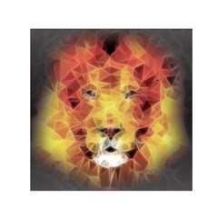 Fractal Lion Small Satin Scarf (square)