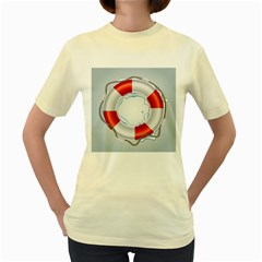 Spare Tire Icon Vector Women s Yellow T Shirt