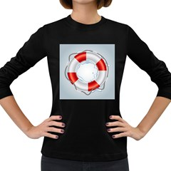 Spare Tire Icon Vector Women s Long Sleeve Dark T Shirts