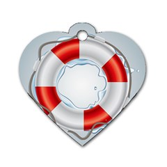 Spare Tire Icon Vector Dog Tag Heart (two Sides)