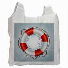 Spare Tire Icon Vector Recycle Bag (one Side)