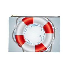 Spare Tire Icon Vector Cosmetic Bag (large)