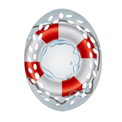 Spare Tire Icon Vector Ornament (oval Filigree)