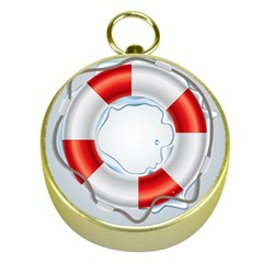 Spare Tire Icon Vector Gold Compasses