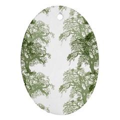 Trees Tile Horizonal Ornament (oval)