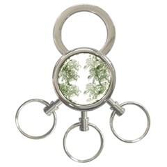 Trees Tile Horizonal 3 Ring Key Chains