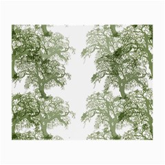 Trees Tile Horizonal Small Glasses Cloth by Nexatart