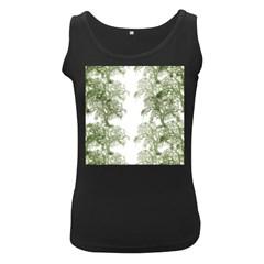 Trees Tile Horizonal Women s Black Tank Top