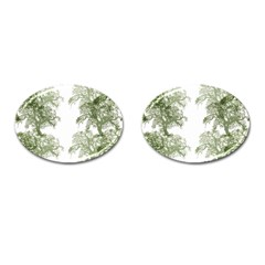 Trees Tile Horizonal Cufflinks (oval) by Nexatart