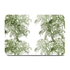 Trees Tile Horizonal Plate Mats by Nexatart