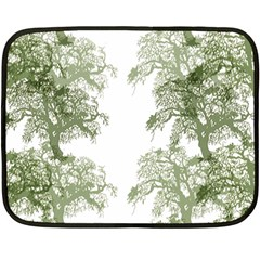Trees Tile Horizonal Fleece Blanket (mini)
