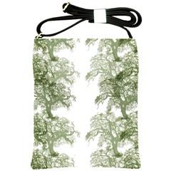 Trees Tile Horizonal Shoulder Sling Bags