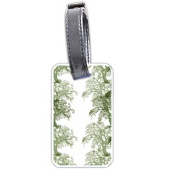 Trees Tile Horizonal Luggage Tags (two Sides)