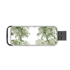 Trees Tile Horizonal Portable Usb Flash (two Sides) by Nexatart