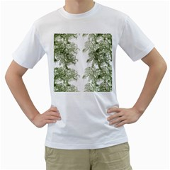 Trees Tile Horizonal Men s T Shirt (white)