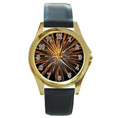 Pyrotechnics Thirty Eight Round Gold Metal Watch