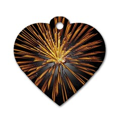 Pyrotechnics Thirty Eight Dog Tag Heart (two Sides)