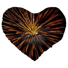Pyrotechnics Thirty Eight Large 19  Premium Heart Shape Cushions