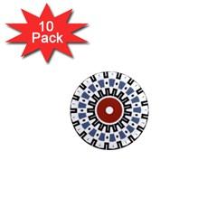 Mandala Art Ornament Pattern 1  Mini Magnet (10 Pack)