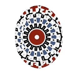 Mandala Art Ornament Pattern Oval Filigree Ornament (two Sides) by Nexatart