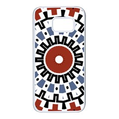 Mandala Art Ornament Pattern Samsung Galaxy S7 White Seamless Case