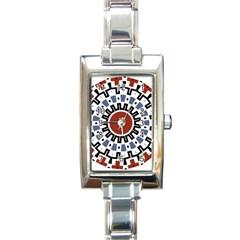 Mandala Art Ornament Pattern Rectangle Italian Charm Watch by Nexatart