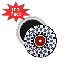 Mandala Art Ornament Pattern 1 75  Magnets (100 Pack)  by Nexatart