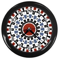 Mandala Art Ornament Pattern Wall Clocks (black)