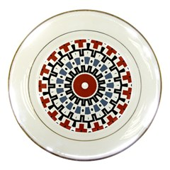 Mandala Art Ornament Pattern Porcelain Plates