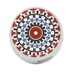 Mandala Art Ornament Pattern 4 Port Usb Hub (one Side)