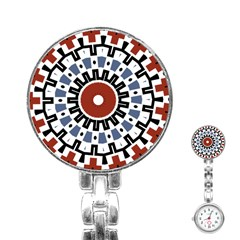 Mandala Art Ornament Pattern Stainless Steel Nurses Watch
