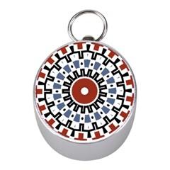 Mandala Art Ornament Pattern Mini Silver Compasses by Nexatart