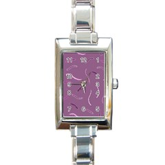 Plumelet Pen Ethnic Elegant Hippie Rectangle Italian Charm Watch