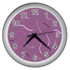 Plumelet Pen Ethnic Elegant Hippie Wall Clocks (silver)  by Nexatart