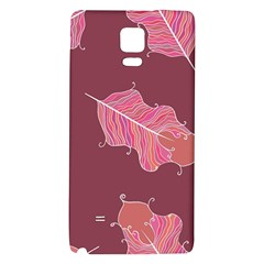 Plumelet Pen Ethnic Elegant Hippie Galaxy Note 4 Back Case by Nexatart
