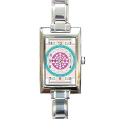 Mandala Design Arts Indian Rectangle Italian Charm Watch