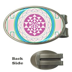 Mandala Design Arts Indian Money Clips (oval)  by Nexatart