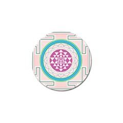 Mandala Design Arts Indian Golf Ball Marker by Nexatart
