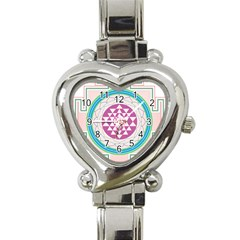 Mandala Design Arts Indian Heart Italian Charm Watch