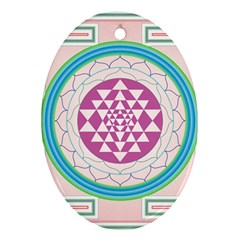 Mandala Design Arts Indian Oval Ornament (two Sides)