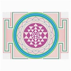 Mandala Design Arts Indian Large Glasses Cloth (2 Side)