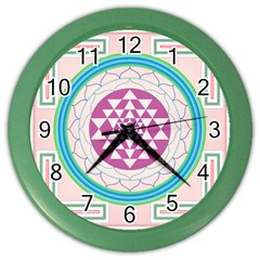 Mandala Design Arts Indian Color Wall Clocks by Nexatart