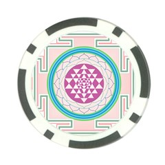 Mandala Design Arts Indian Poker Chip Card Guard (10 Pack)