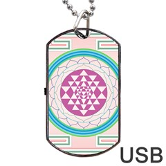 Mandala Design Arts Indian Dog Tag Usb Flash (one Side)